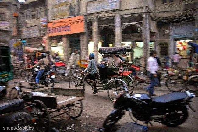 Rikshaw driver in India