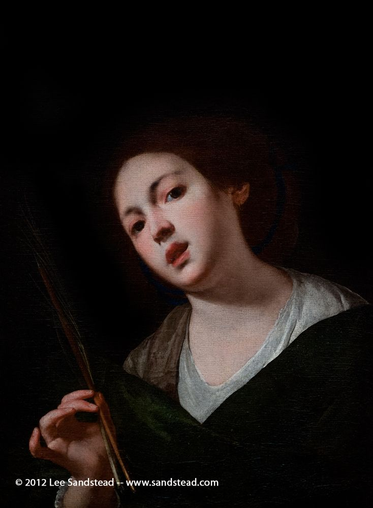 Saint Christina, by Bernardo Cavallino