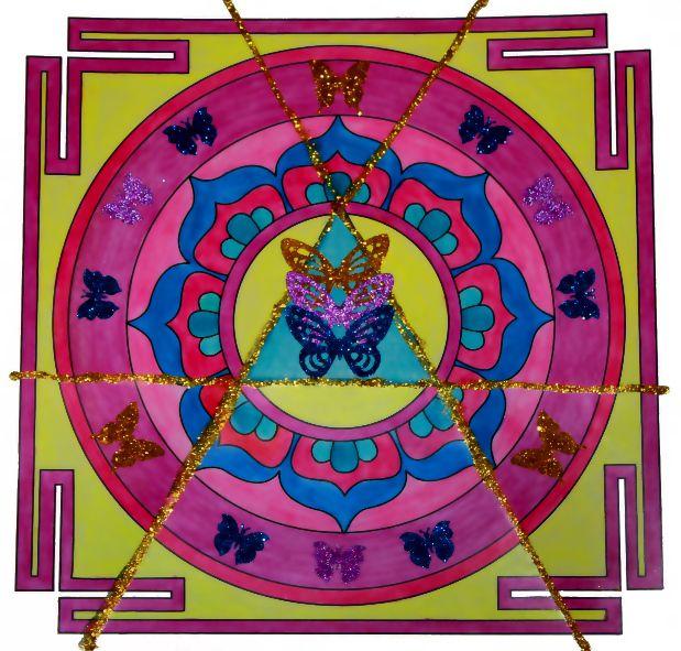 """Mandala """"Podświadomość, Świadomość, Nadświadomość"""" www.mandalavision.pl"""