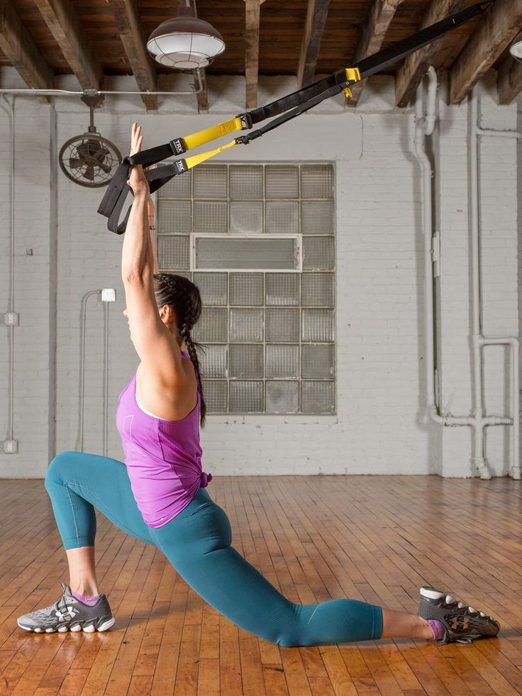 2. Low Lunge  #trx #yoga # http://greatist.com/move/trx-yoga-workout