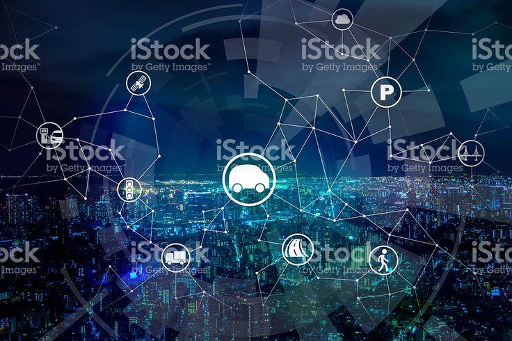 modern transportation and communication network royalty-free stock photo