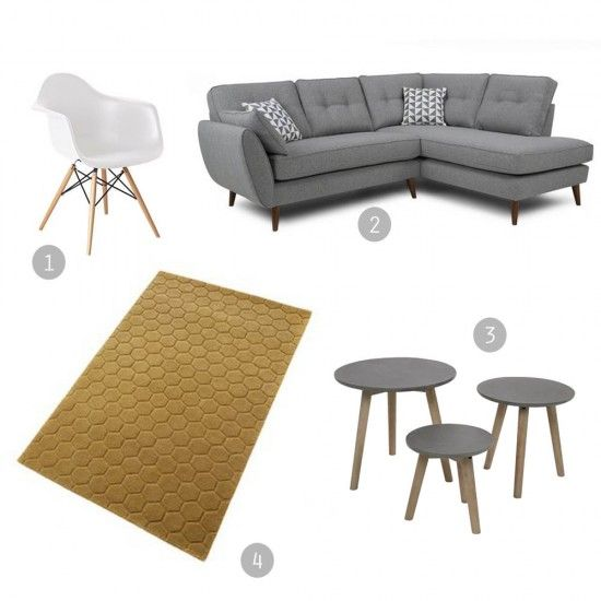 WIN! DFS Zinc sofa | Mid-century style | Win a living room makeover | French Connection sofas | Apartment Apothecary