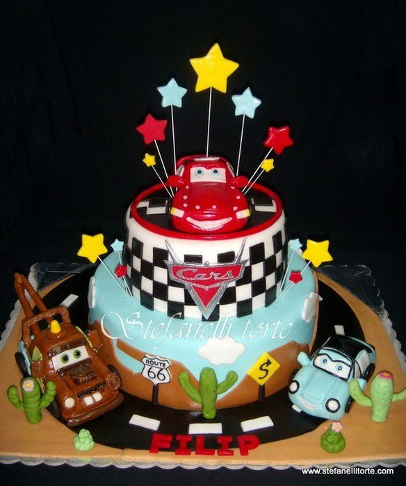 lightning mcqueen and friends cake by stefanelli cakesdecorcom cake