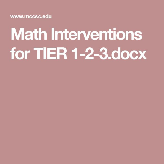 Math Interventions for TIER 1-2-3.docx