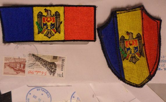Moldovian army chevrons used / Moldova Patch by embroiderypapatedy
