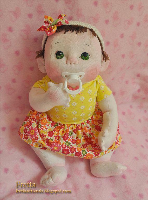 """VENTE! La vie unique de fretta taille 48 cm/19 """"doux Sculpt tétine pondérée poupée empathie. Enfant-SafeTextile lourd Baby Doll"""