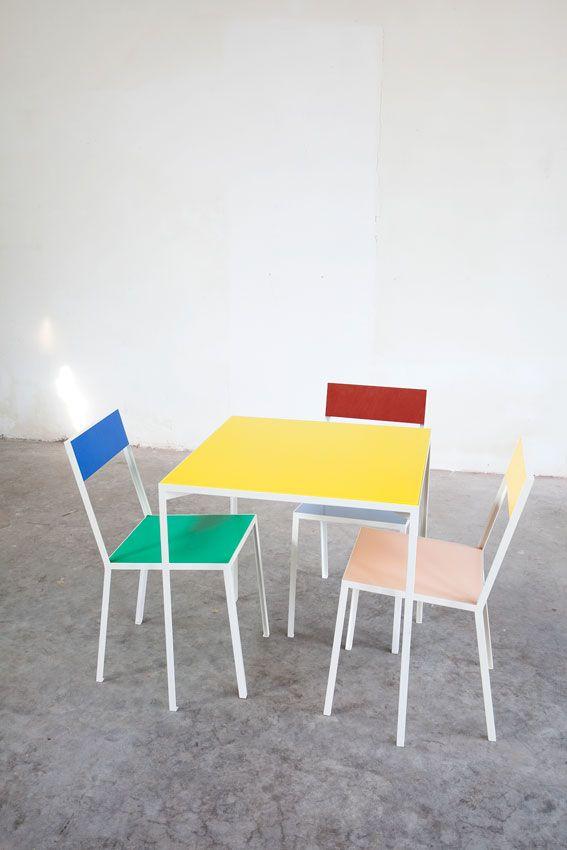 table S + first chair | Muller Van Severen