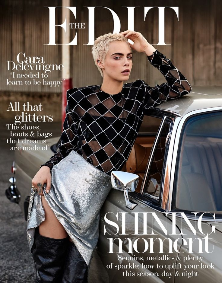 Cara Delevingne Shines in Rebellious Styles for The Edit
