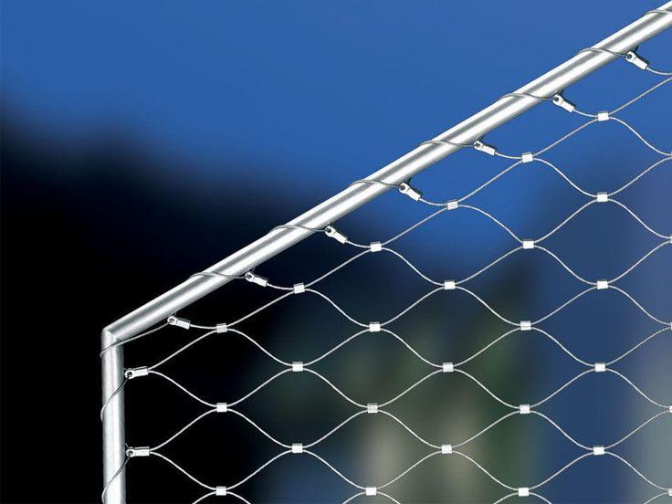 Handrail wire mesh / stainless steel / diamond mesh - INOX ...