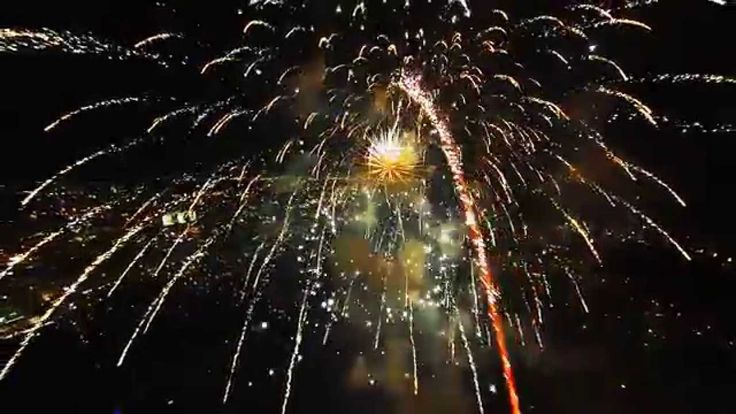 Flying through a firework show with a DJI Phantom 2 and filming it with a GoPro Hero 3 silver http://extremedronecameras.com