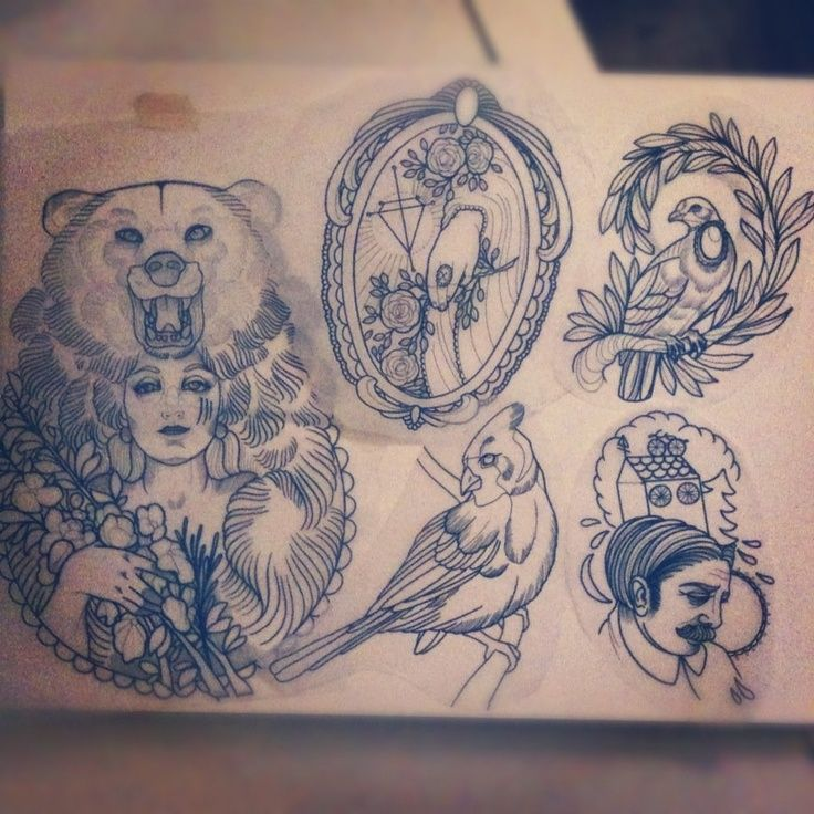 The woman with the bear... Add a bird somehow and it's perfect