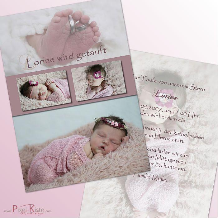 Einladungskarten Taufe Oder Namensweihe Mit Fotos