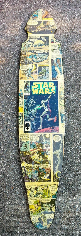 Vintage Star Wars Comic Longboard by BurbSkateboards on Etsy, $100.00