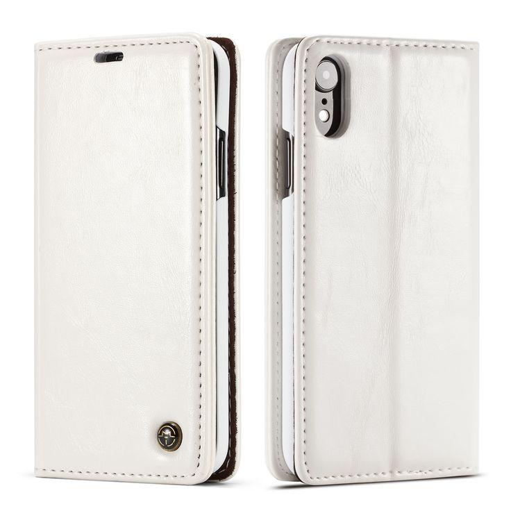 Caseme iphone xr flip retro leather wallet case