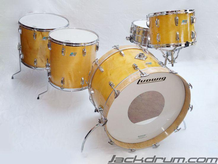 1971 vintage ludwig zep set natural maple acero drum set on sale vintage drums on sale. Black Bedroom Furniture Sets. Home Design Ideas