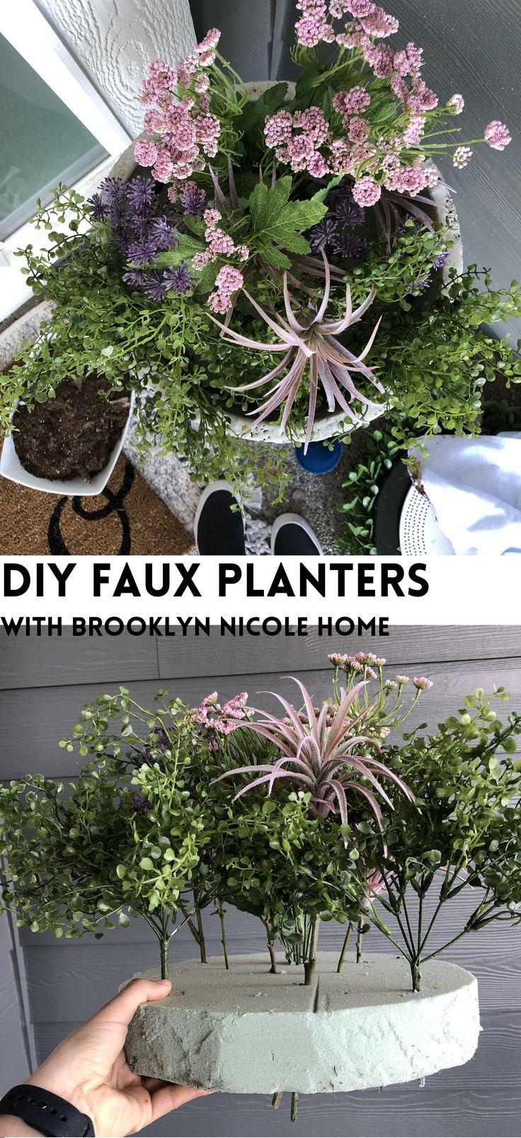Diy Faux Planters Fake Potted Plants Faux Plants Decor Front Porch Plants