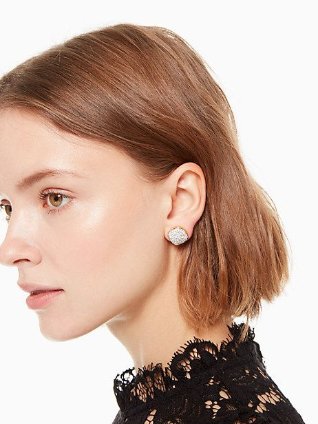 4c450ad24225 Kate Spade Clay Pave Small Square Studs, Clear in 2019 | Products ...
