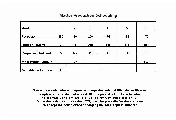 Manufacturing Production Schedule Template Inspirational 13 Production Schedule Templates Pdf Doc Schedule Template Master Schedule Schedule Templates