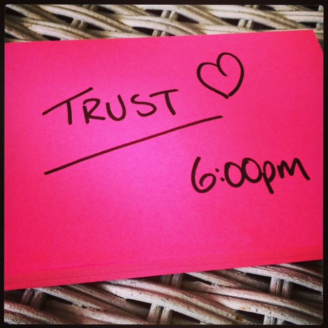 A date with Trust