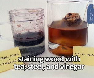 DIY:  Natural Wood Staining Technique Using Tea, Vinegar, and Steel