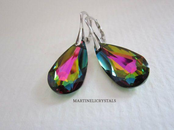 Vitrail Medium Rainbow Earrings Swarovski by MARTINELICRYSTALS