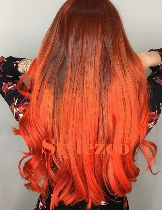 Unique Atomic Orange Hair Colors Ideas For Blonde Girls In 2019 Hair Color Highlights Hair Color Orange Light Hair