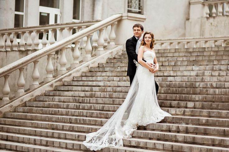 постановочный свадебный портрет