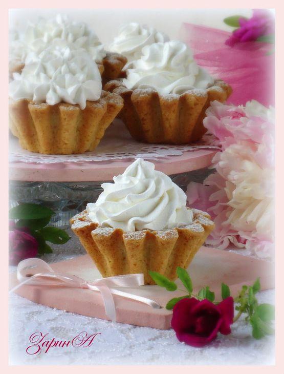 Пирожное Корзинки с белковым кремом пошаговый рецепт с фотографиями