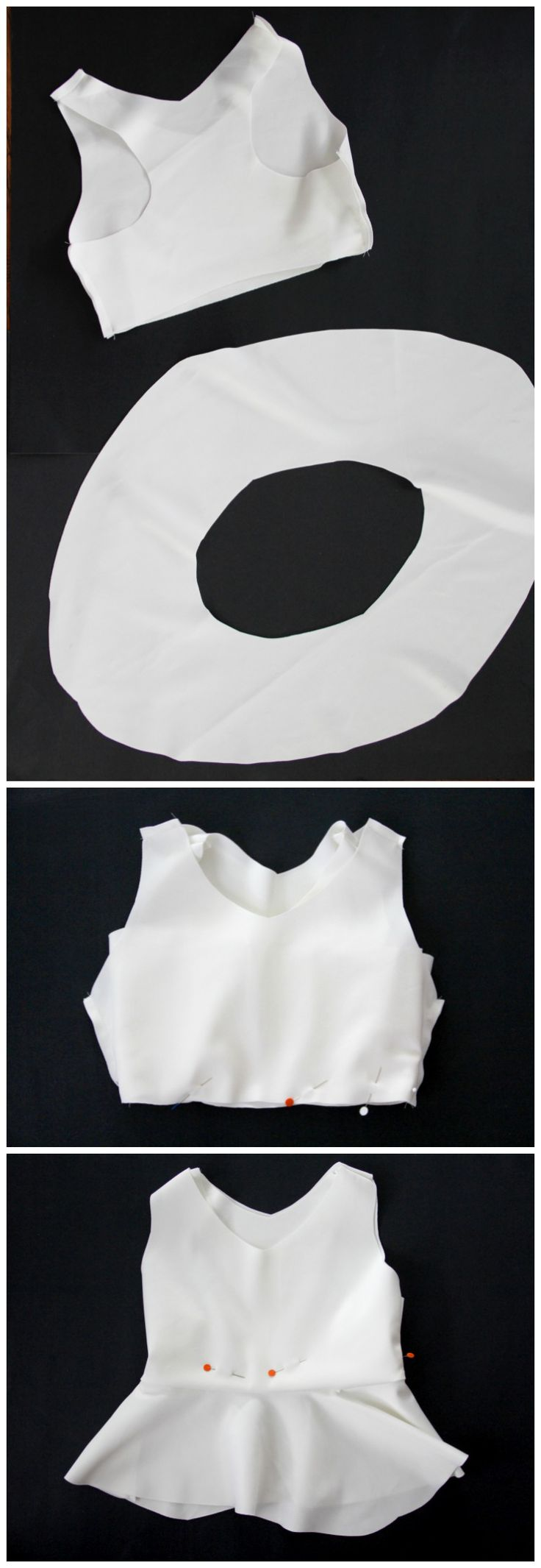 how to sew a peplum bikini top