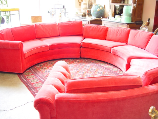 vintage red velvet round sofa 1309 del paso blvd sacramento www