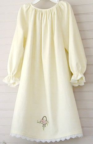 """another old fashion nightgown from """"Joy of Smocking pattern"""" minus the smocking"""