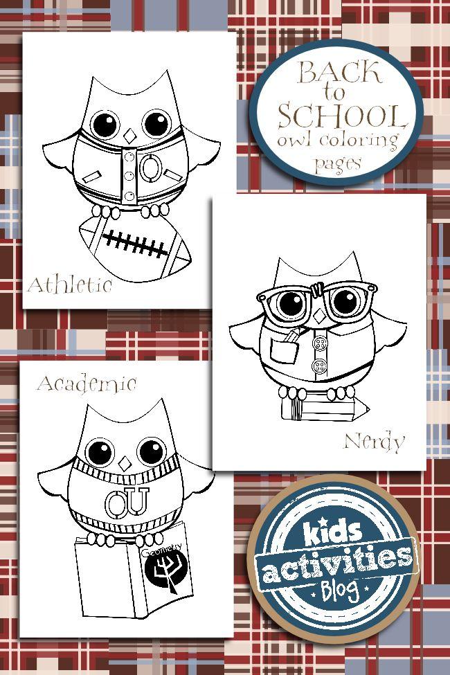 ec0c58af5e0b22791b4cb1ee76b5ae24--school-coloring-pages-free-coloring-pages Back to School Coloring Pages {Owl Themed} Cartoon
