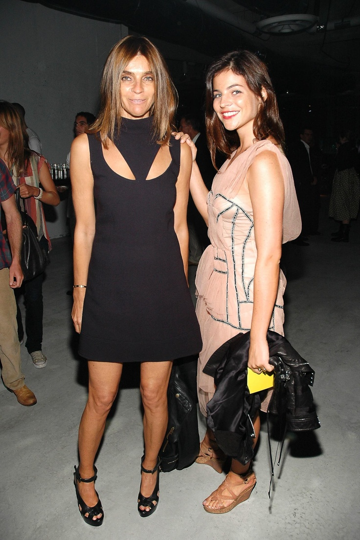 Carine Roitfeld with Julia Restoin-Roitfeld