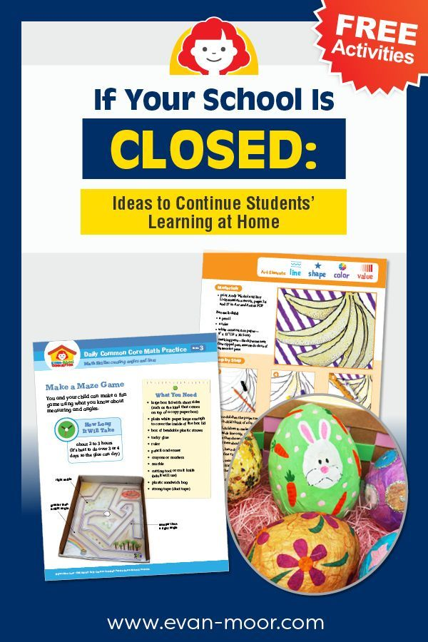 If Your School Is Closed Ideas To Continue Students Learning At Home In 2020 Homeschool Learning Teaching Homeschool Free Activities