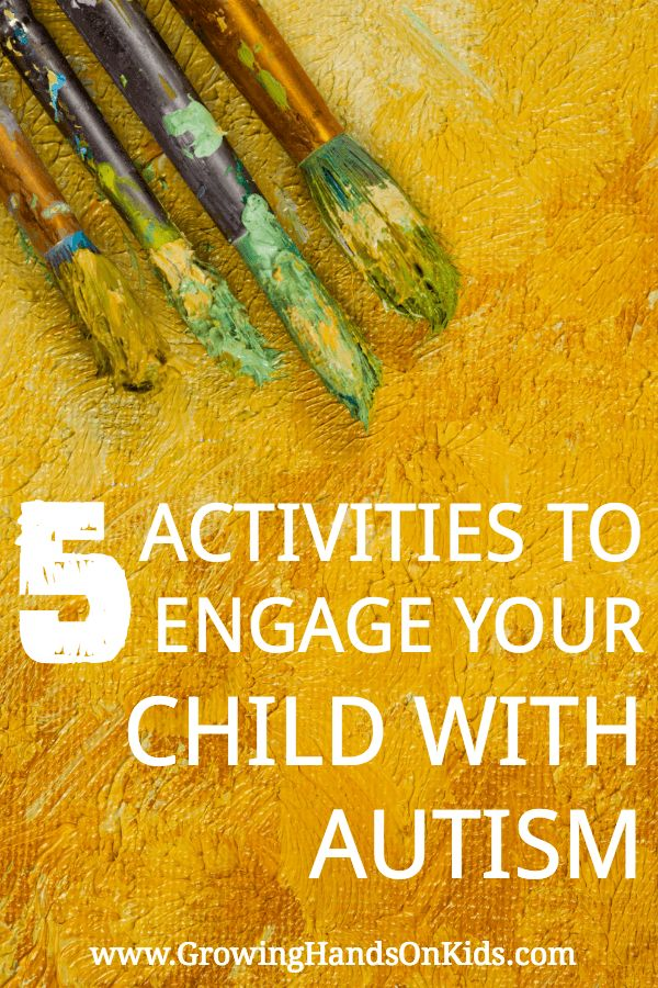 5 fun arts and crafts activities to engage your child with Autism.