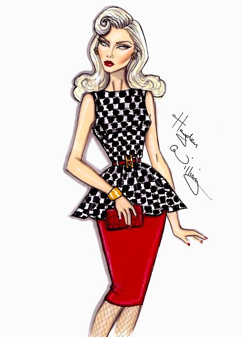 'Check Her Out' by Hayden Williams: Williams Illustrations, Fashion Sketches, Hayden Williams, Fashion Art, Williams Fashion, Drawing, Haydenwilliams, Fashion Illustrations
