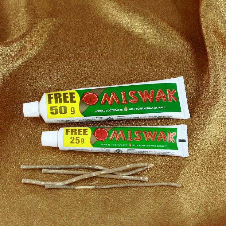 Miswak Toothpaste - herbal alternative for teth higiene, contains natural silica from Arrack tree.
