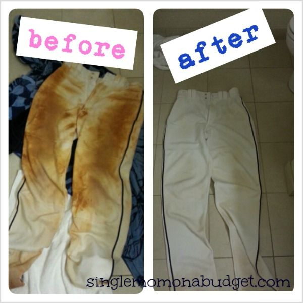 Cleaning the toughest stains. Those dirty white baseball pants got you down? See how I get my son's pants back to white in under 5 minutes.