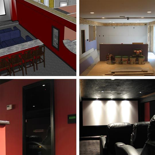 The DIY L-Shaped Basement Home Theater