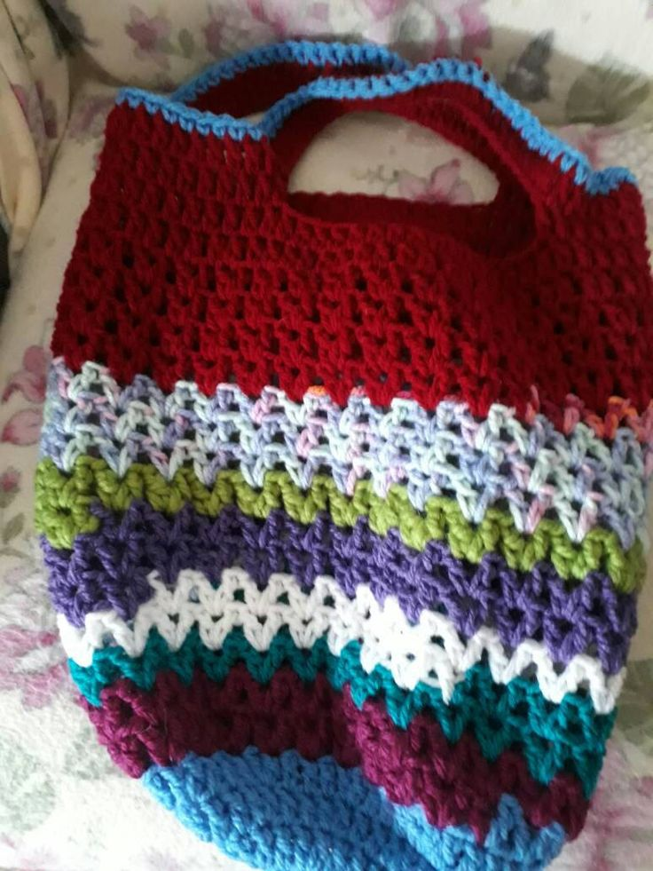 Handmade crochet shopping bag-multi coloured tote bag-soft multi purpose bag-storage solutions crochet bag-hippy style by bootneckbabies on Etsy