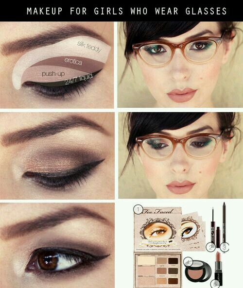 Eye makeup for people with glasses