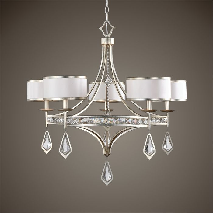Avenues lighting mid chandeliers drum shades five light