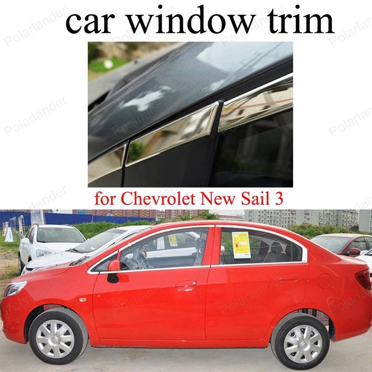 92.10$  Buy here - http://alim5o.worldwells.pw/go.php?t=32761383448 - Decoration frame Stainless Steel Window Trim   For C-hevrolet New S-ail 3 Car Styling