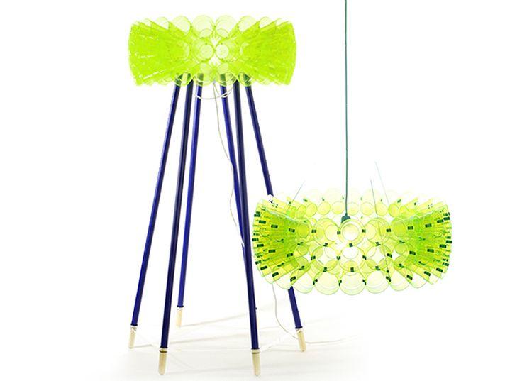 Meike Harde: Lichtschlucker Plastic Cup Lamps Gallery