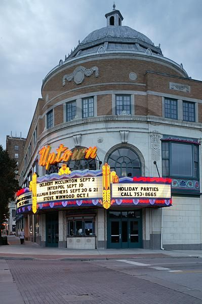 Uptown Theater, Kansas City, Missouri. The Uptown opened January 6, 1928 - a concert venue. It was renovated in 1994. It is on U.S. National Register of Historic Places.