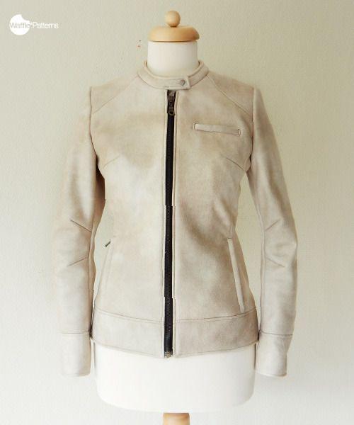 waffle patterns sewing patterns kaneel moto jacket