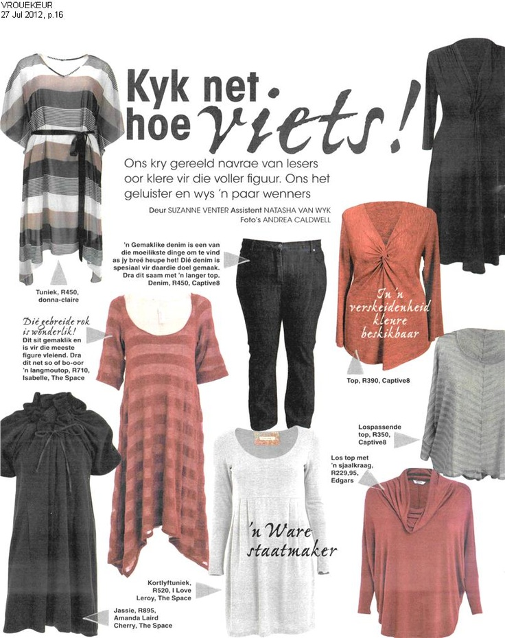 Captive8 items featured in Vrouekeur Magazine #plussizestyle to love