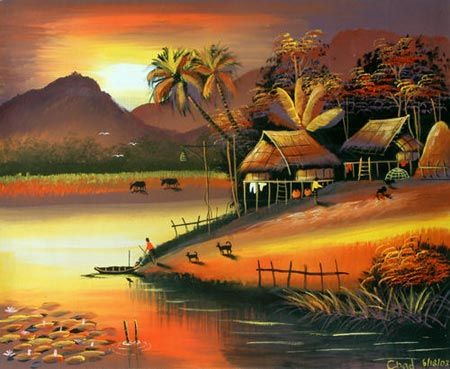 64 best images about lanscape paintings on pinterest for Landscape paintings for beginners