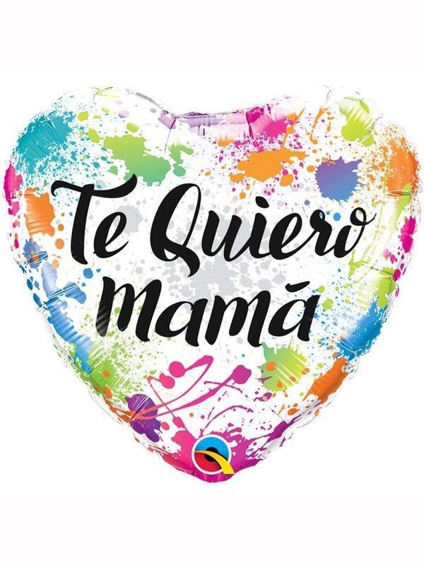 "Te Quiero Mama Mother's Day 18"" Heart Foil Balloon"