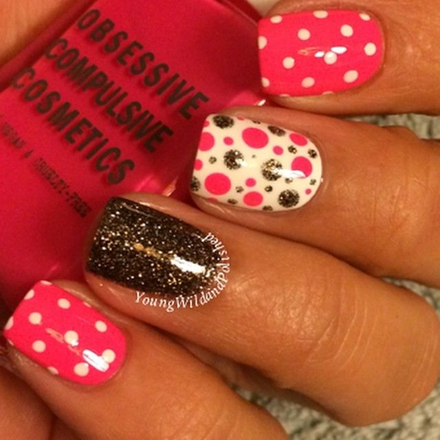 The 76 best Nail Art: Polka dot nails images on Pinterest | Polka ...